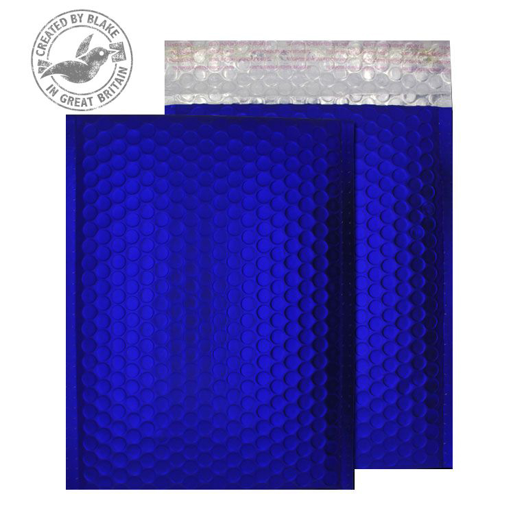 Purely Packaging Bubble Envelope P&S C5+ Metallic NeonBlue Ref MTNB250 Pk 100 *10 Day Leadtime*
