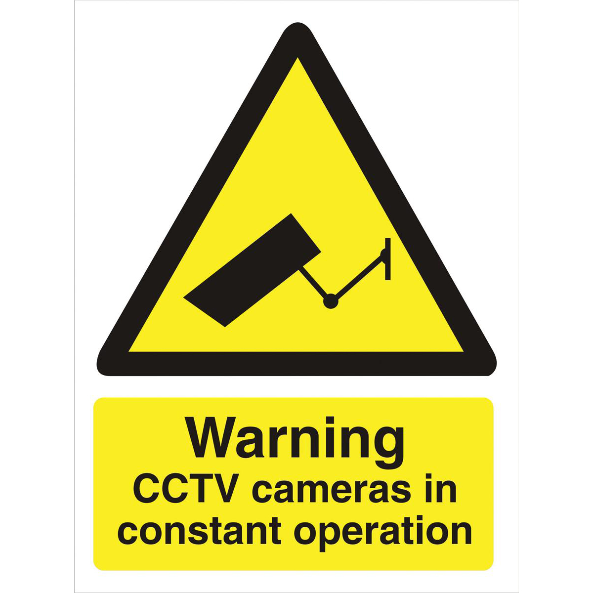 Stewart Superior Caution CCTV Cameras in Operation Sign  W150xH200mm Self-adhesive Vinyl Ref WO143SAV