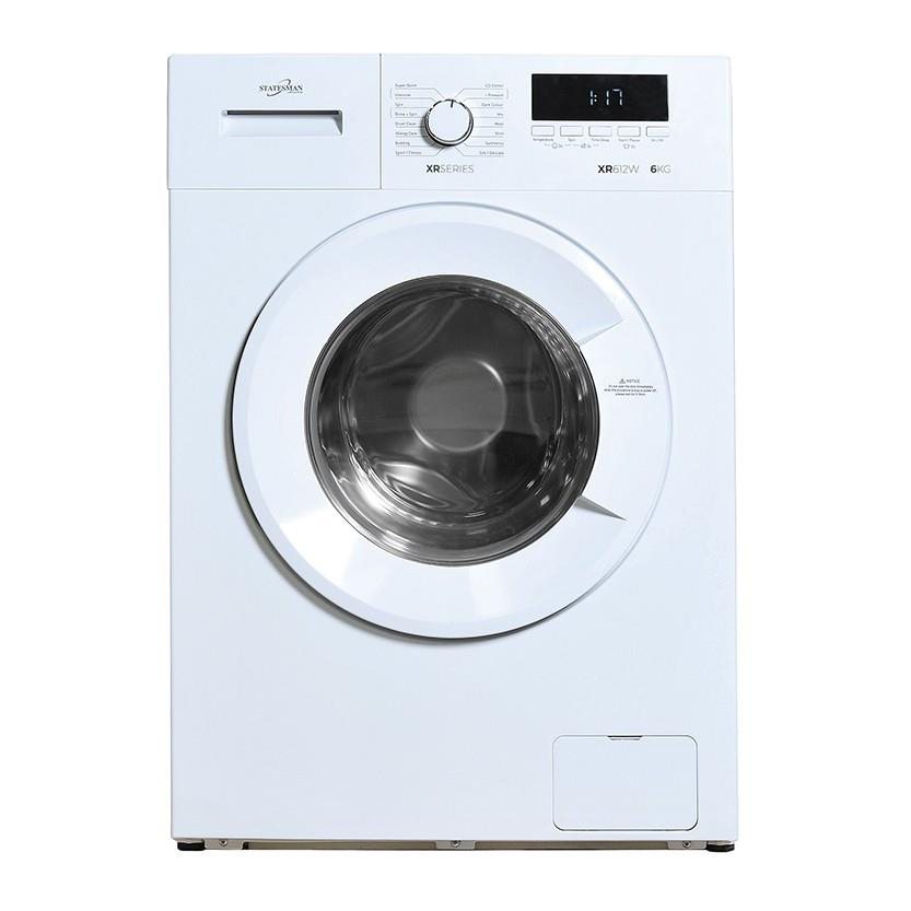 Kitchen Appliances Statesman Washing Machine A+++ Rating 6kg Load 1200 Spin White Ref XR612W