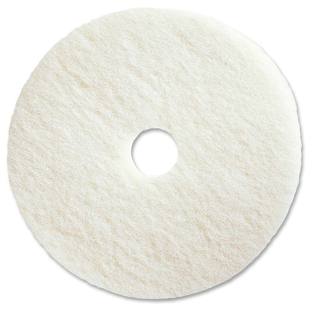Maxima Floor Polish Pads 17inch White Ref 0701002 Pack 5