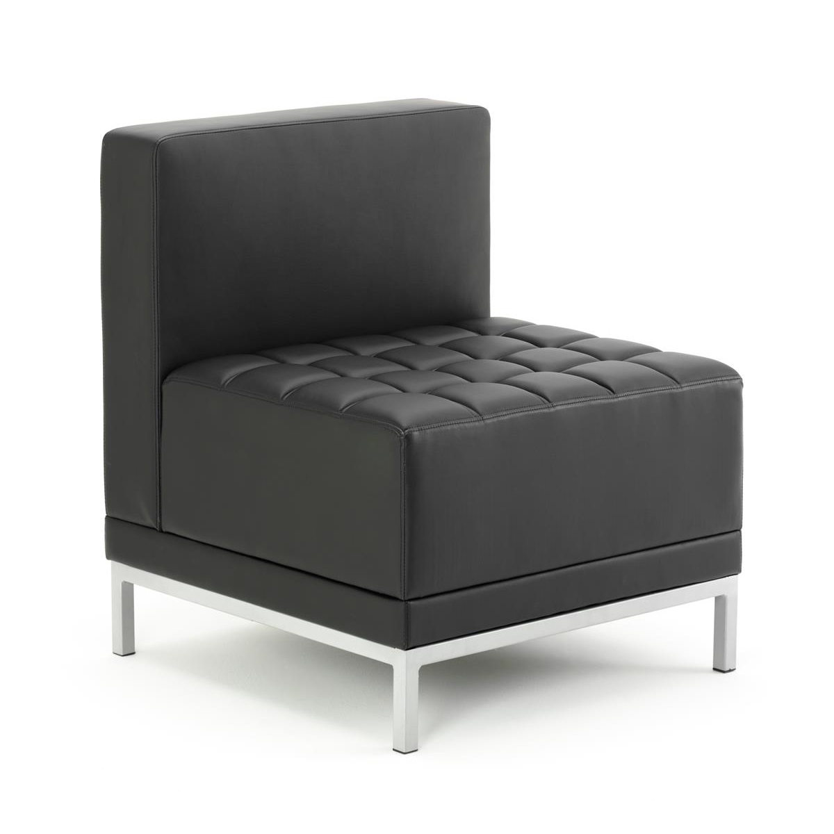 Image for #Sonix Modular Reception Chair Bonded Leather 660x520x440mm Ref BR000200
