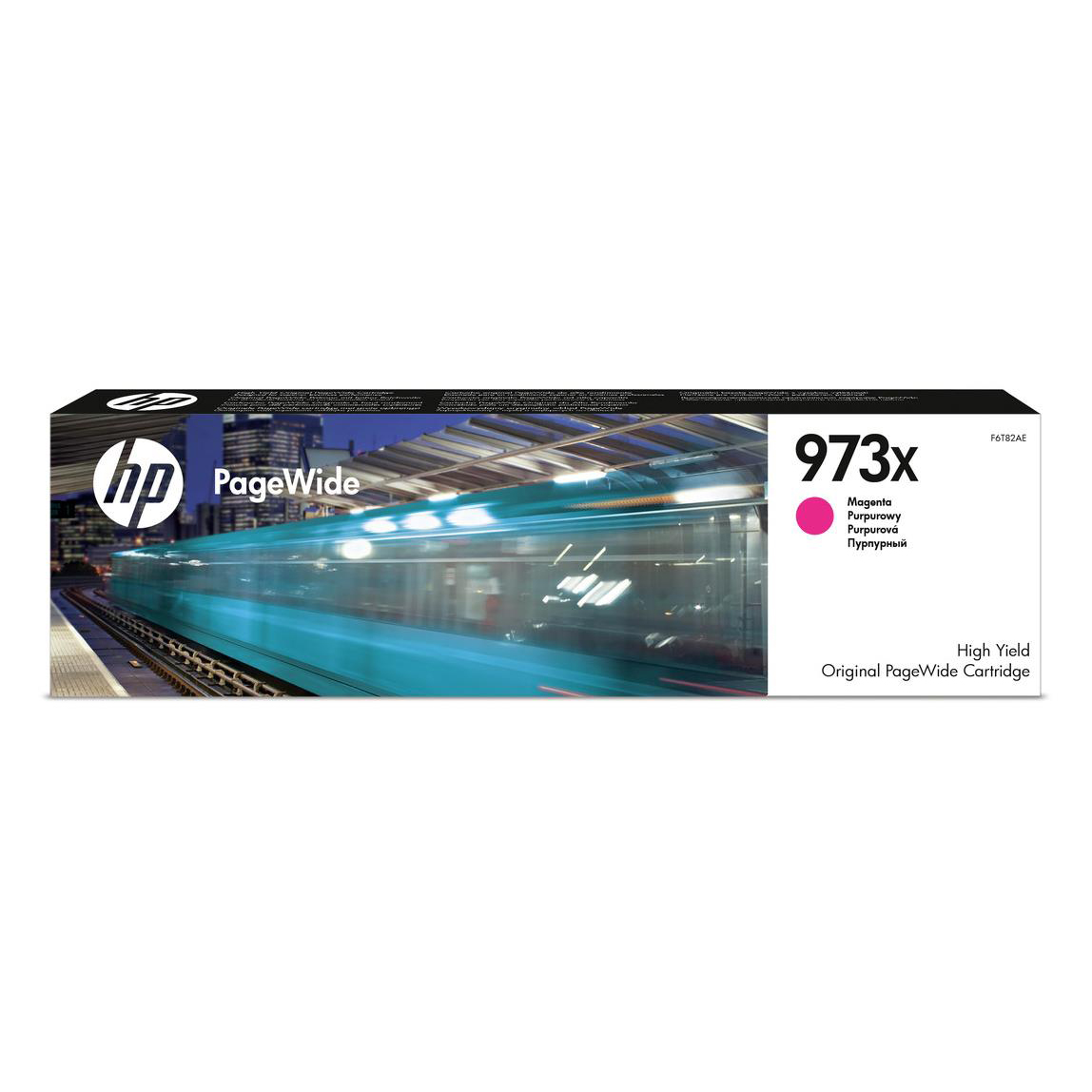 Hewlett Packard [HP] No.973X Inkjet Cart Page Wide HY Page Life 7000pp 82ml Magenta Ref F6T82AE
