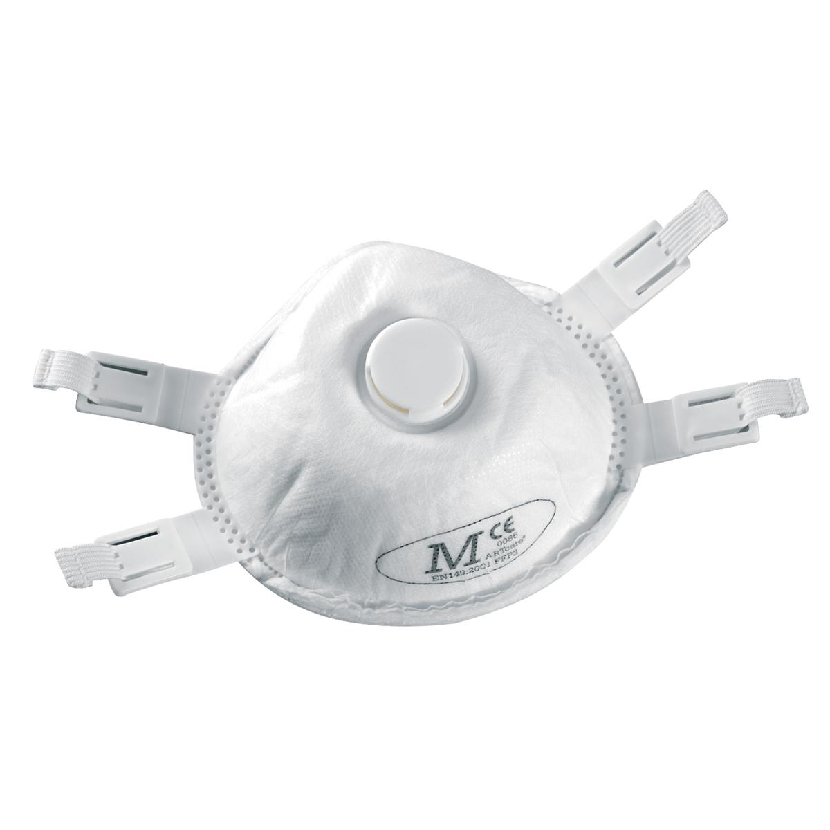 JSP Disposable Mask FFP3 Moulded Valved EN149 Standard Ref BEH130-001-000 [Pack 5]