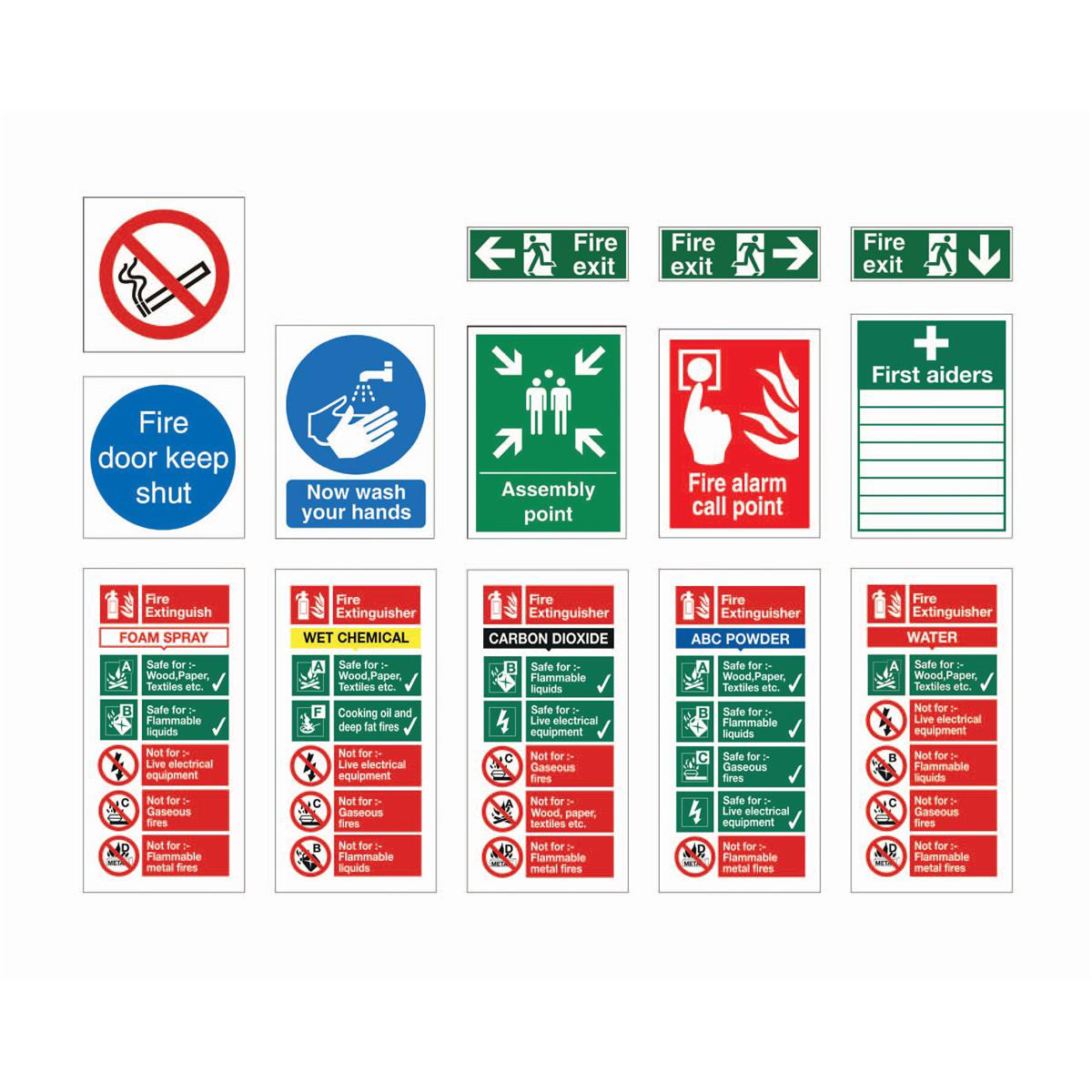 Safety signs Stewart Superior Signs Starter Pack for Medium Sized Businesses Pack 27