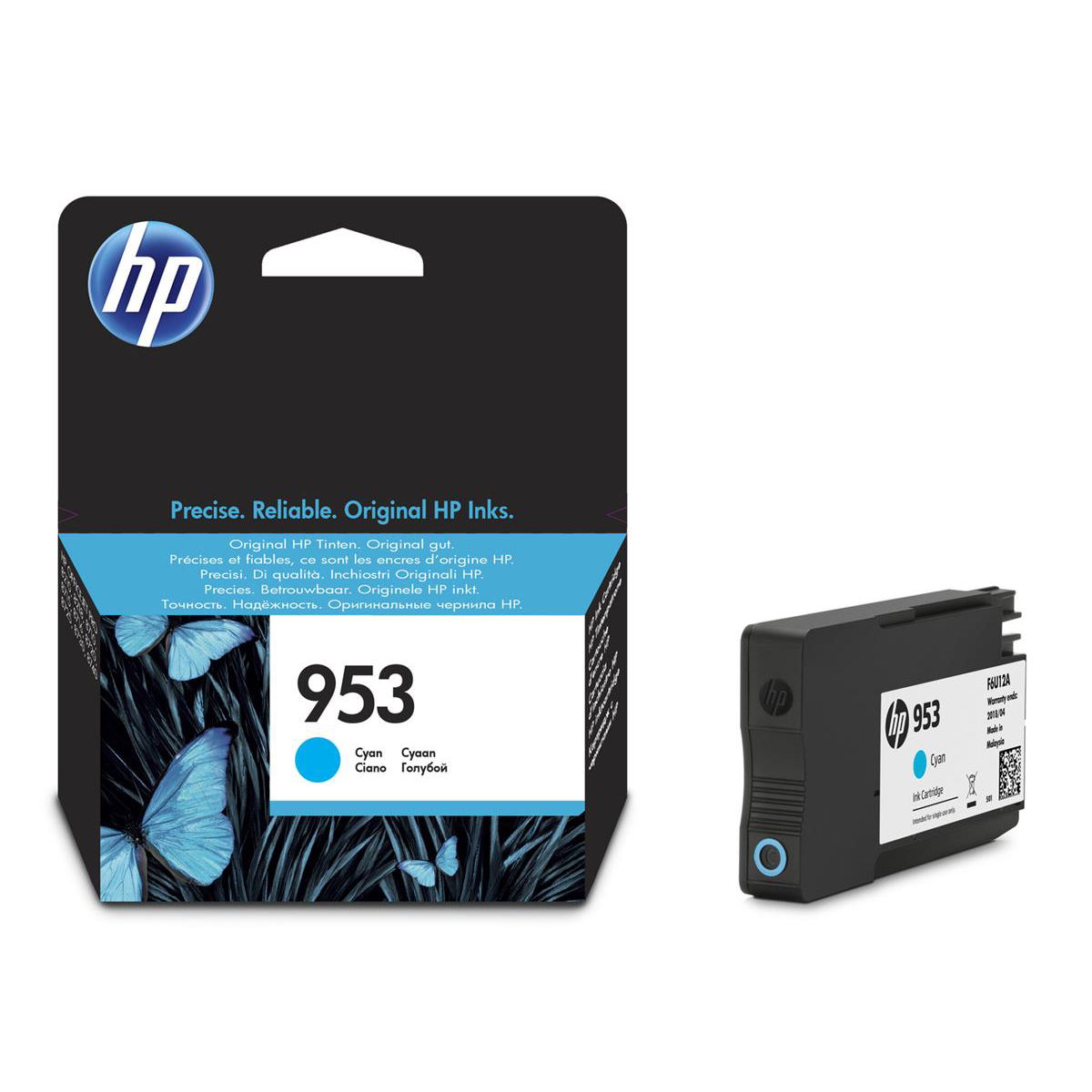Hewlett Packard [HP] No.953 Inkjet Cartridge Page Life 700pp 10ml Cyan Ref F6U12AE