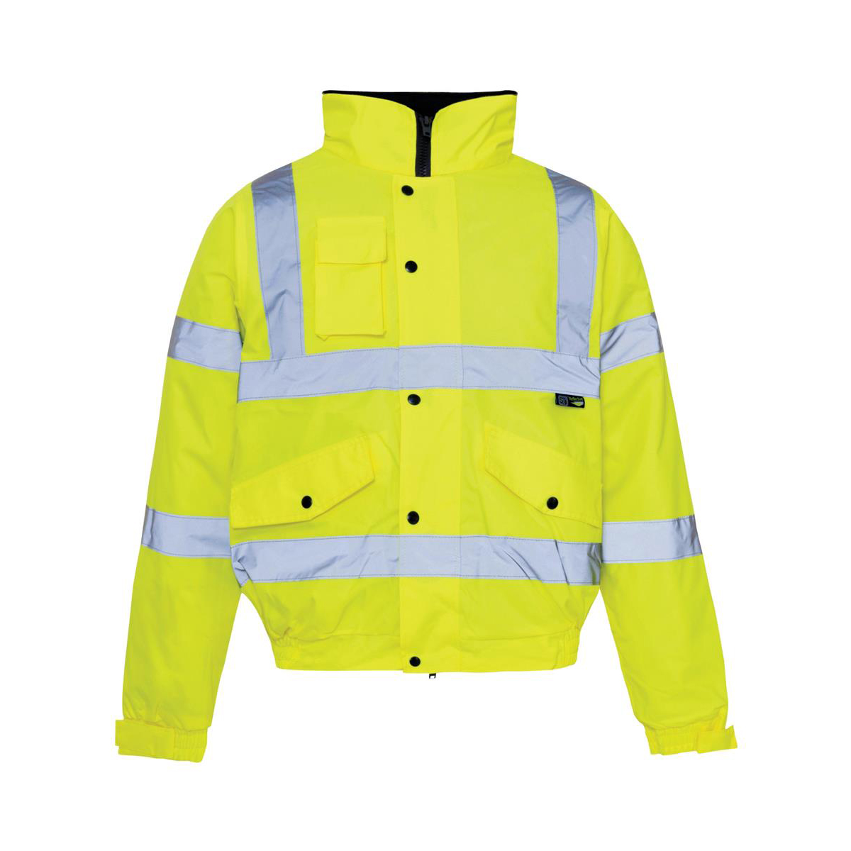 High Visibility Bomber Jacket Weather Proof With Padded Lining Large Yellow *Approx 2/3 Day Leadtime*