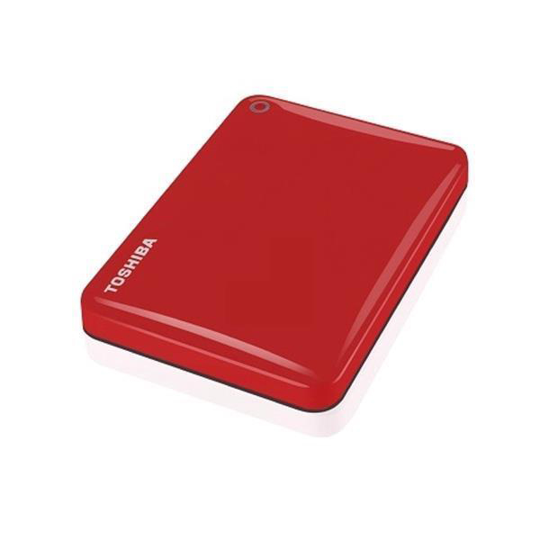 Toshiba Canvio Connect II Hard Drive USB 3.0 and 2.0 Compatible 1TB Red Ref HDTC810ER3AA