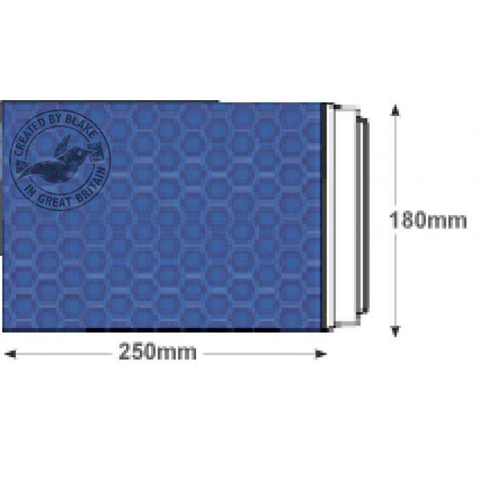 Purely Packaging Envelope P&S 250x180mm Padded Met Blue Ref MBBLU250 Pack 100 *10 Day Leadtime*