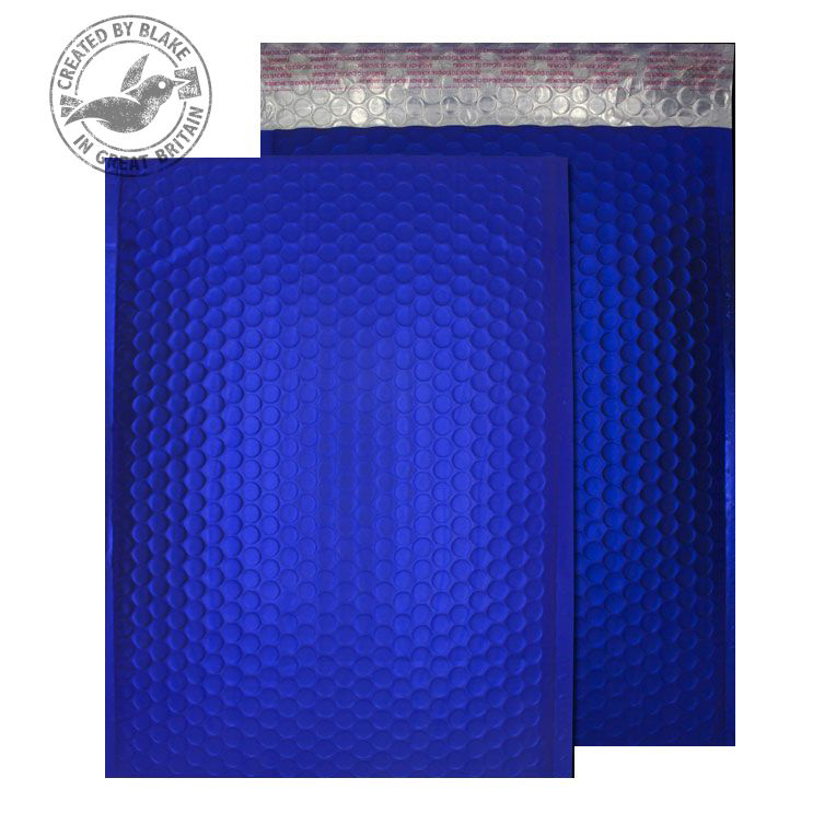 Shades of Brown Purely Packaging Bubble Envelope P&S C4 Metallic NeonBlue Ref MTNB324 Pk 100 *10 Day Leadtime*