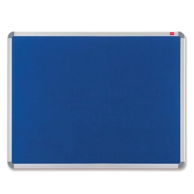 Nobo EuroPlus Felt Noticeboard with Fixings and Aluminium Frame W1200xH900mm Blue Ref 30230175