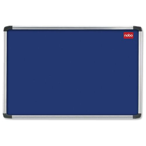 Nobo Prestige Felt Noticeboard with Fixings and Aluminium Frame W1200xH900mm Blue Ref 30230175