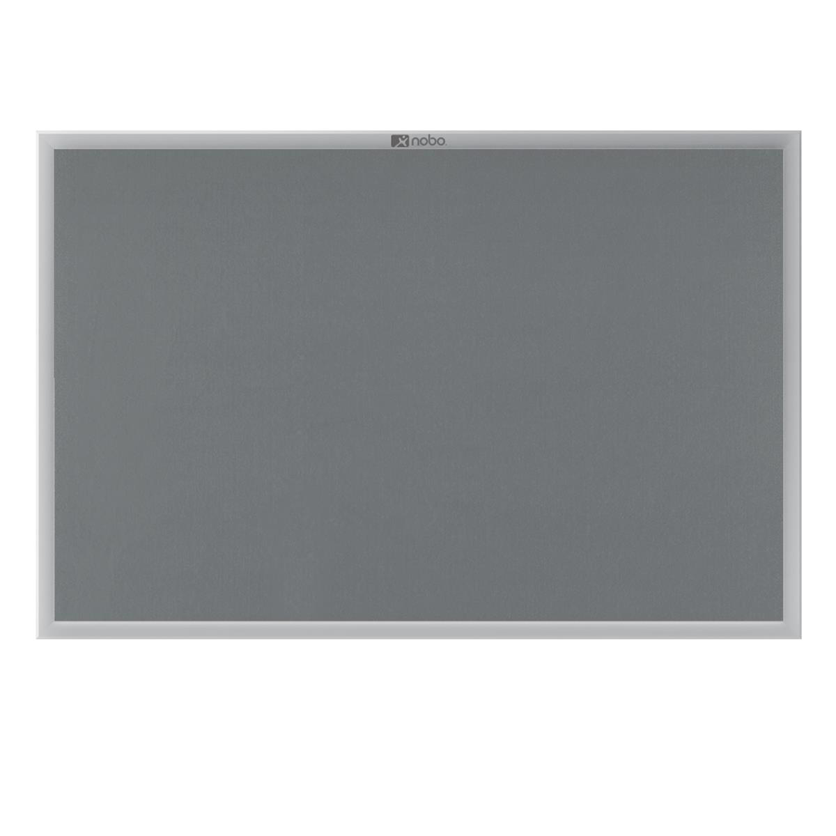 Image for **Nobo EuroPlus Felt Noticeboard with Fixings and Aluminium Frame W1200xH900mm Grey Ref 30230158