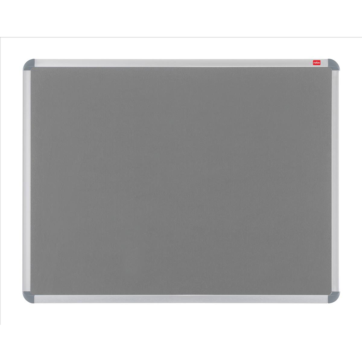 Nobo Prestige Felt Noticeboard with Fixings and Aluminium Frame W1200xH900mm Grey Ref 30230158