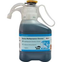 Suma Bac Super Concentrated Liquid Detergent Kitchen Sanitiser 1.4 Litres Ref 7517316 Pack 2
