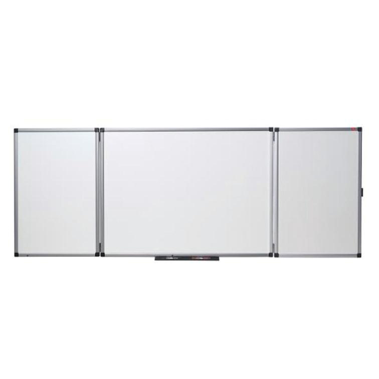Non-Magnetic Nobo Confidential Drywipe Whiteboard System Lockable 3 Boards for 5 Surfaces W1200xD900mm Ref 31630514