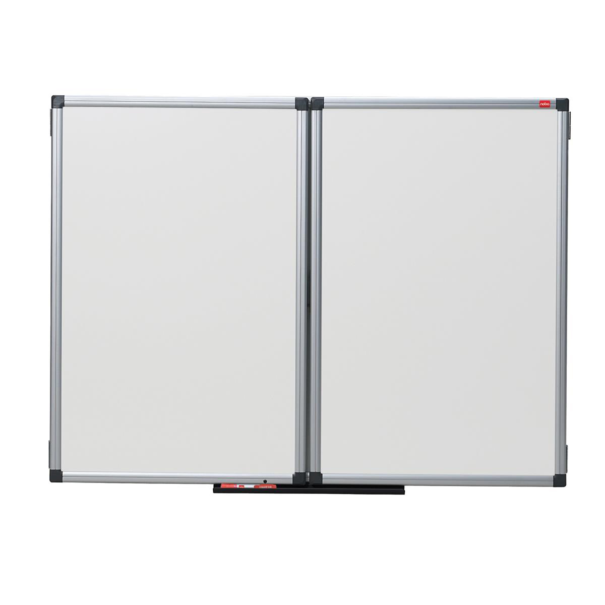 Nobo Confidential Drywipe Whiteboard System Lockable 3 Boards for 5 Surfaces W1200xD900mm Ref 31630514