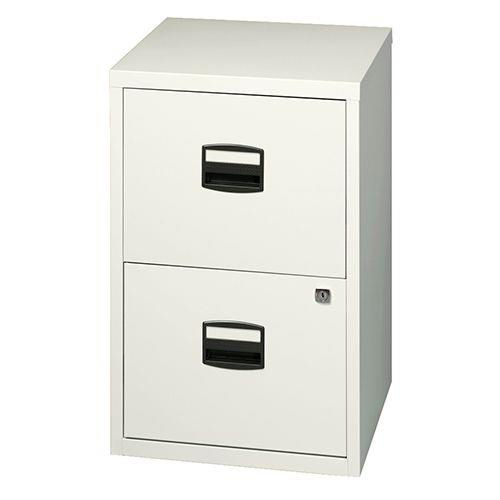 Trexus SoHo A4 Filing Cabinet Two Drawer White