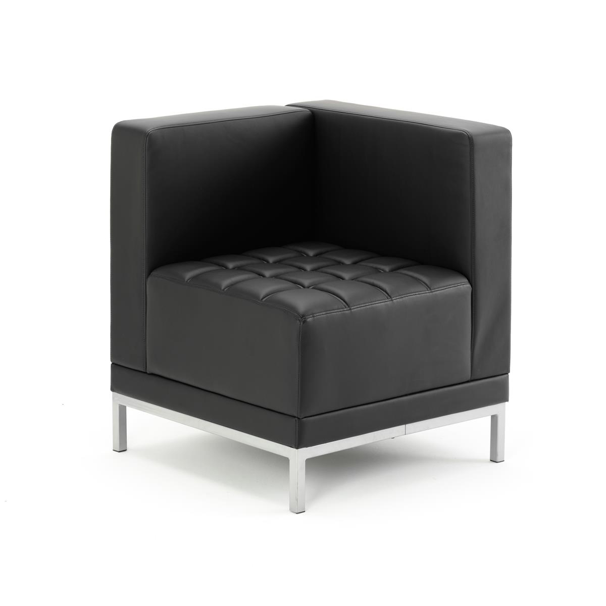 Image for #Sonix Modular Reception Corner Chair Bonded Leather 520x520x440mm Ref BR000198