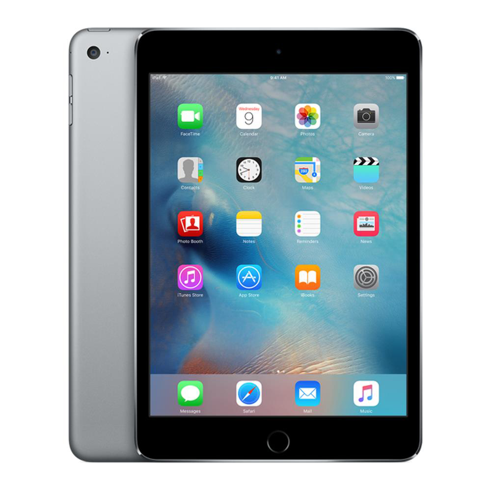 Image for Apple iPad Mini 4 WiFi 128GB 7.9inch A8 chip Retina Display Bluetooth Space Grey Ref MK9N2B/A