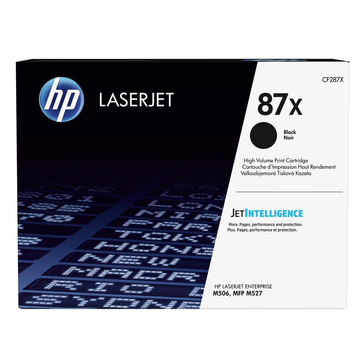 HP 87X Toner Cartridge High Yield Page Life 18000pp Black Ref CF287X