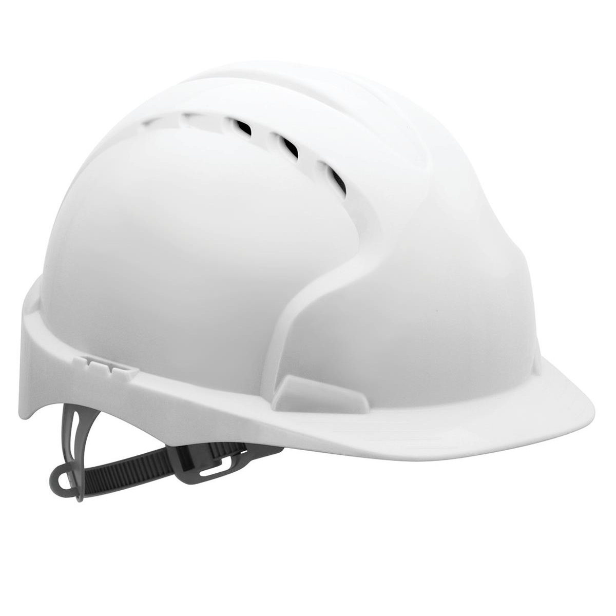 Safety helmets JSP EVO2 Safety Helmet HDPE 6-point Polyethylene Harness EN397 Standard White Ref AJF030-000-100