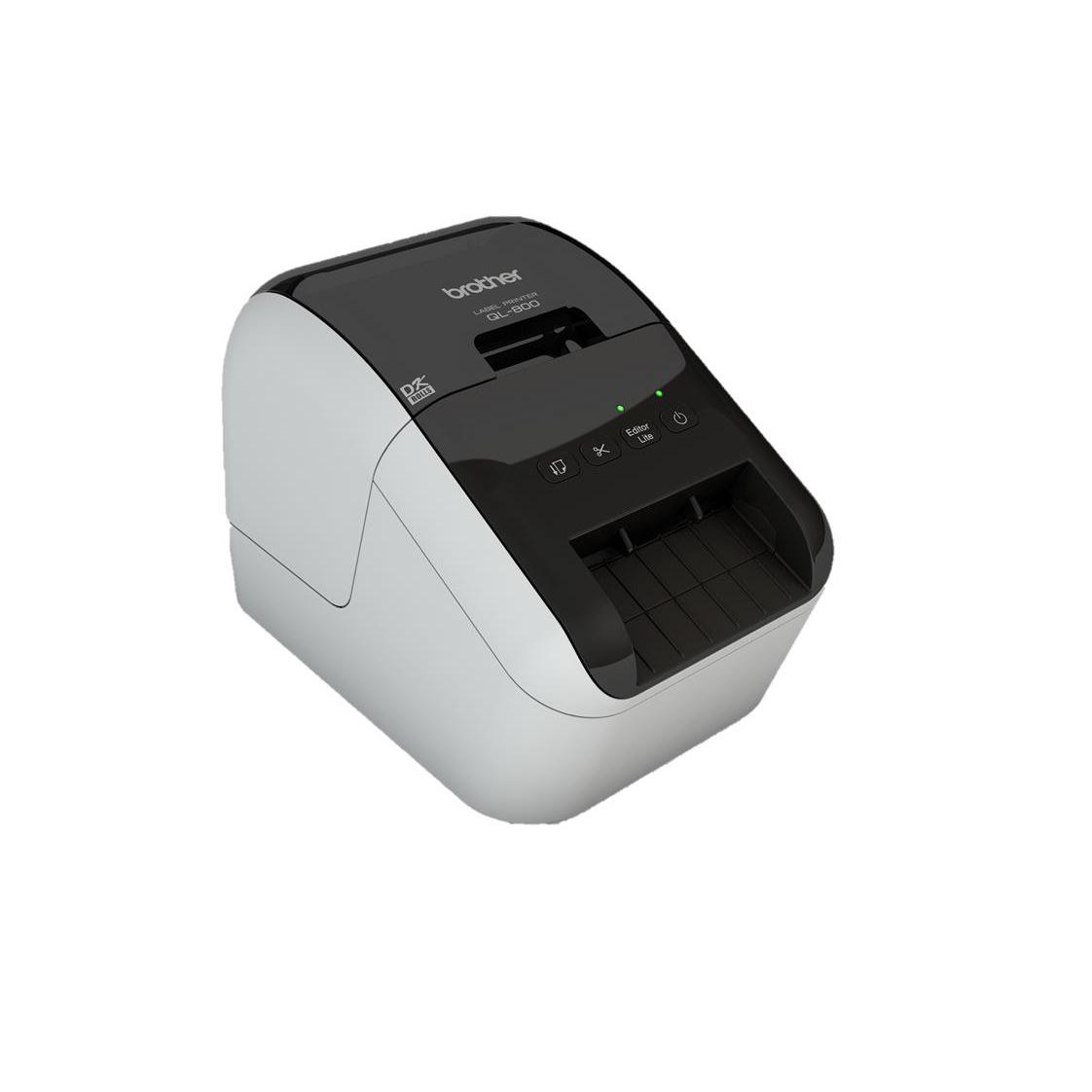 Brother Professional Label Printer 62mm Width Labels 148mm per Second Plug and Print Ref QL800
