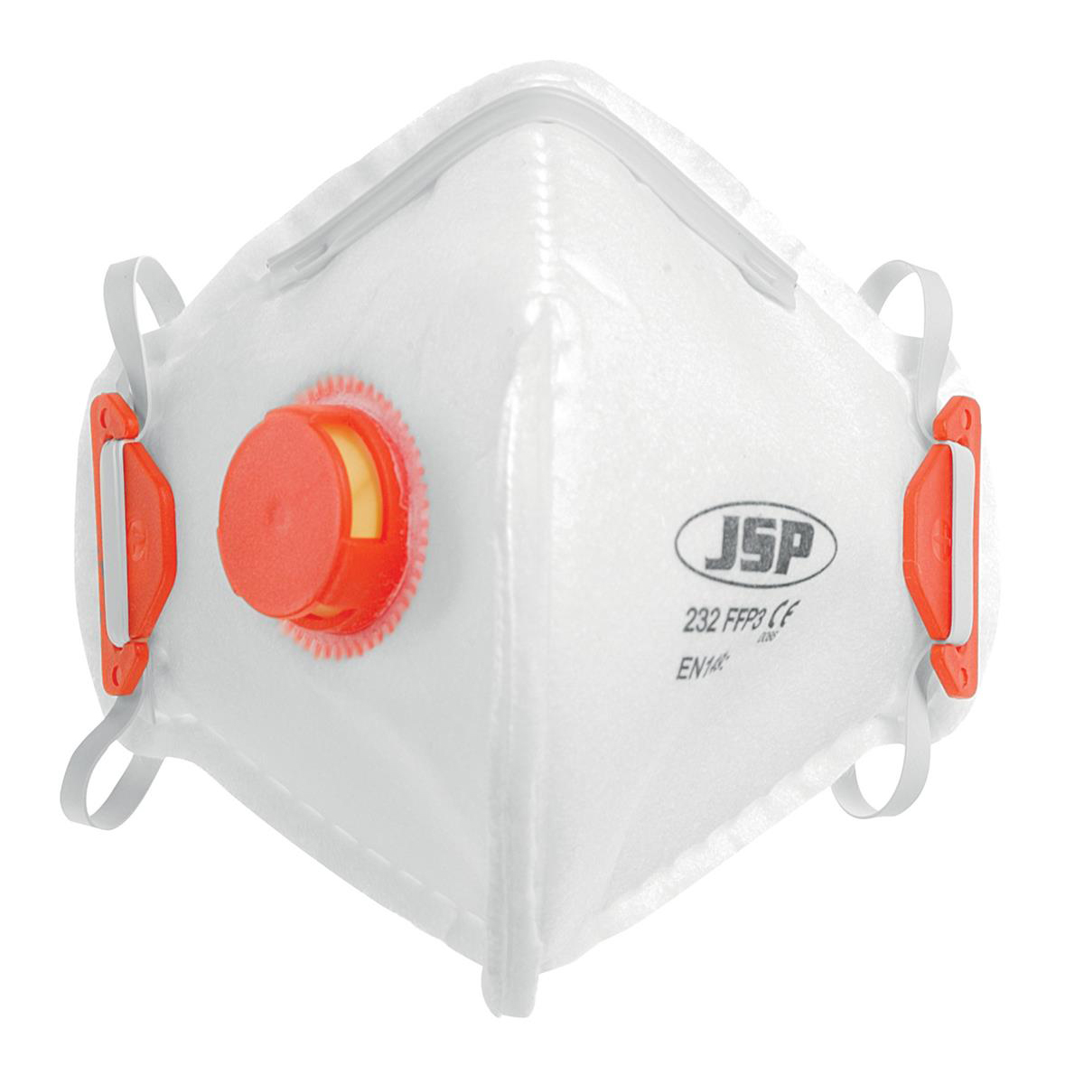 JSP Disposable Mask Valved Fold-flat FFP3 Class 3 EN149:2001 & A1:2009 Ref BEB130-101-000 Pack 10