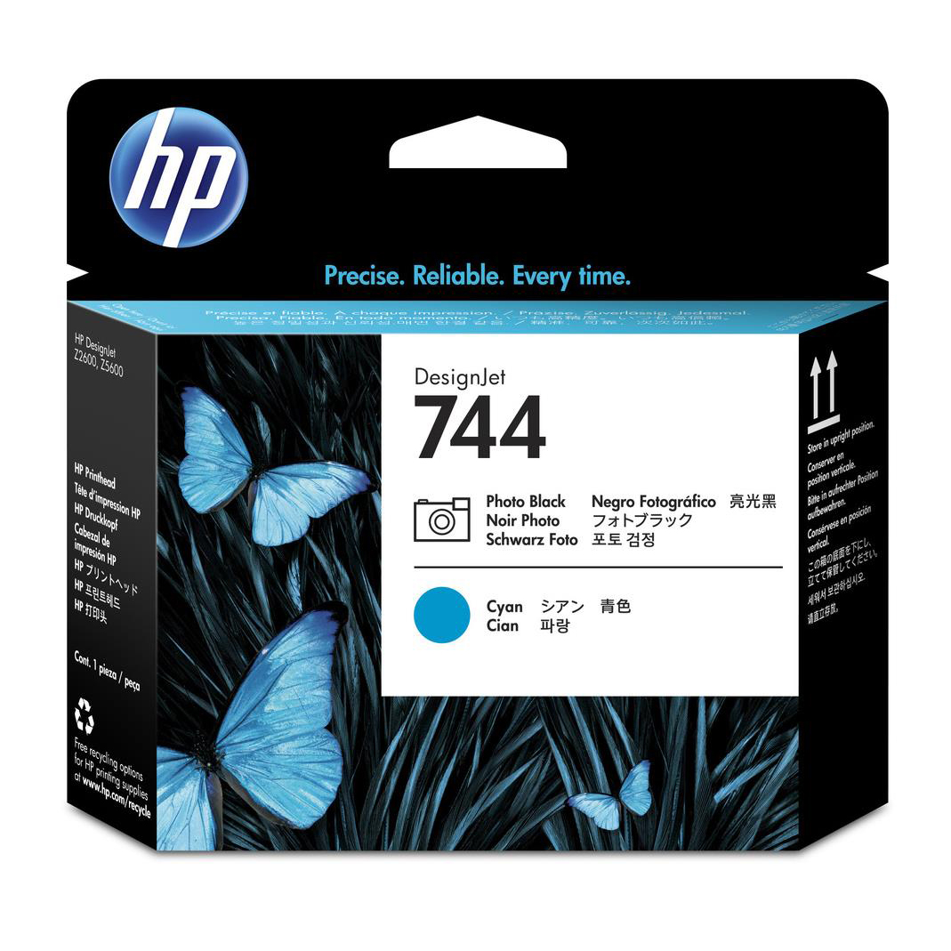 HP 744 Photo Black/Cyan DesignJet Printhead F9J86A *3 to 5 Day Leadtime*