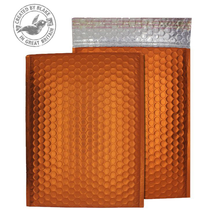 Purely Packaging Bubble Envelope P&S C5+ Matt Metallic Orange Ref MTO250 Pk 100 *10 Day Leadtime*
