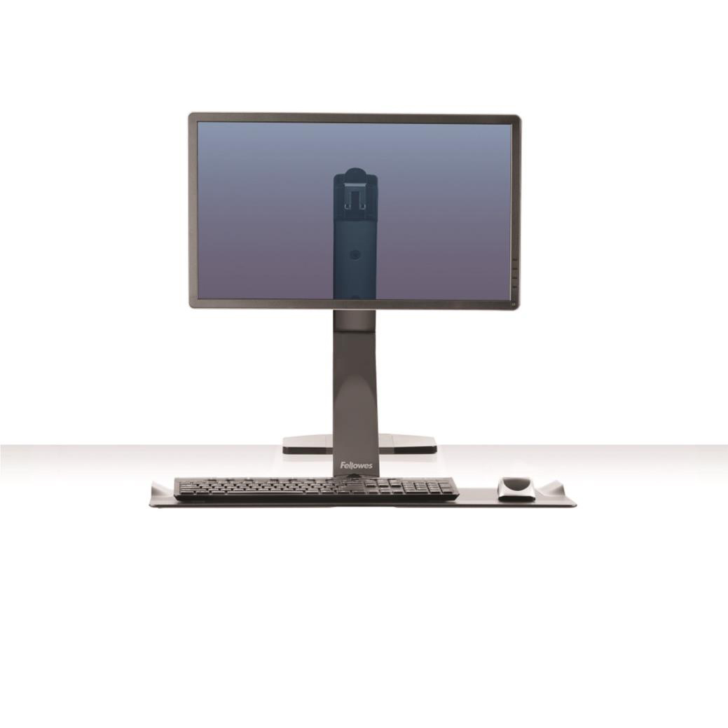 Fellowes Extend Sit-Stand Workstation Single Monitor Attachment 1016mm Radius Black Ref 9701