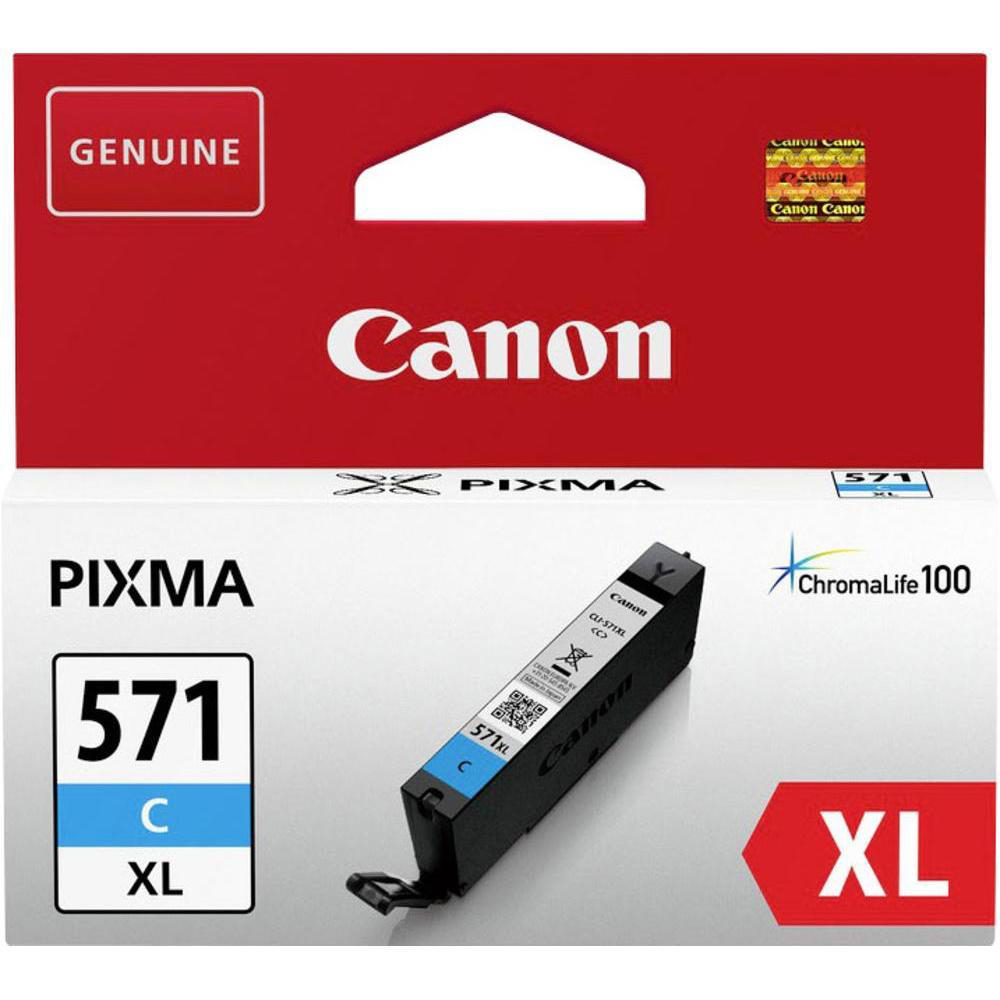 Inkjet Cartridges Canon CLI-571XL Ink Cartridge Page Life 375pp 11ml Cyan Ref 0332C001