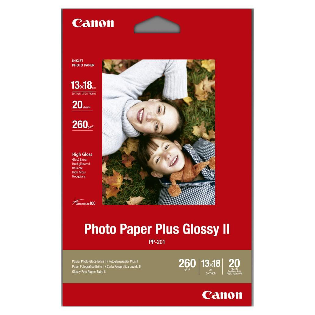 Canon PP201 Photo Inkjet Paper Glossy II 265gsm 130 x 180mm Ref 2311B018AA 20 Sheets