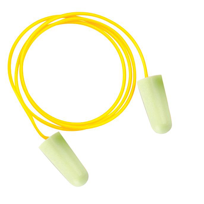 Ear Protection JSP SoundStop Ear Plugs Corded PU Foam Yellow Ref AEE090-060-2G1 [100 Pairs]