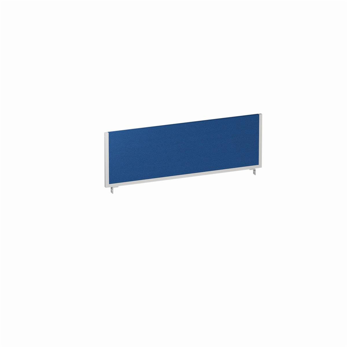 Trexus Desk Screen 1200mm Blue with Silver Frame