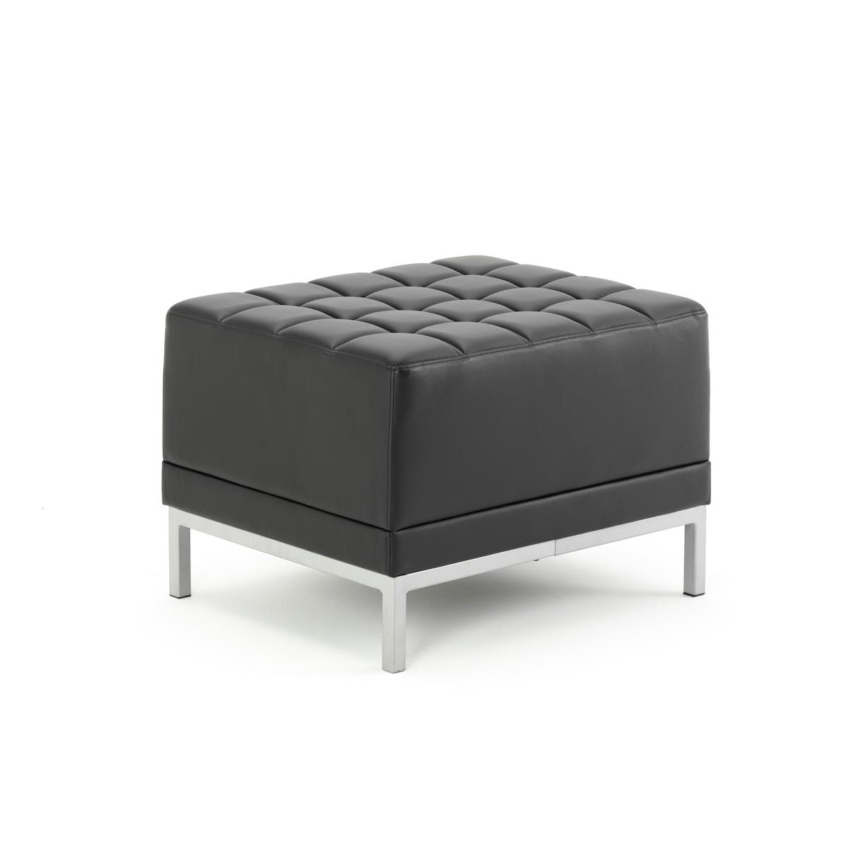Image for #Sonix Modular Reception Cube Chair Bonded Leather 660x520x440mm Ref BR000199