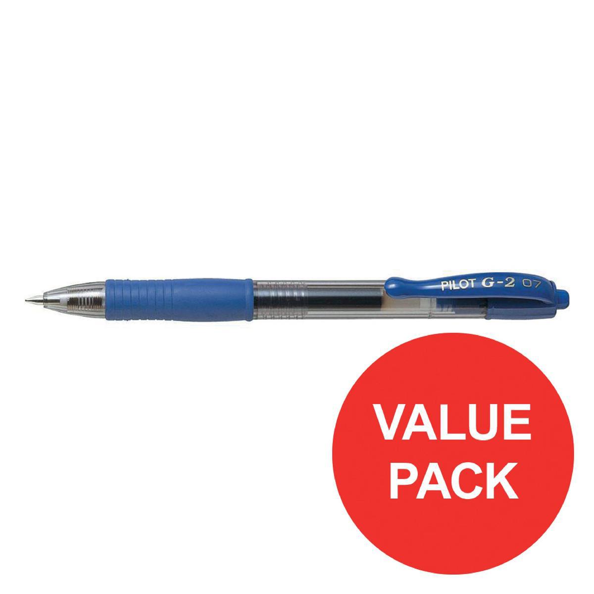 Pilot G207 Gel R/ball Pen Retractable 0.7mm Tip 0.39mm Line Blue 3131910516477 [Pack 20] [20 For 16]