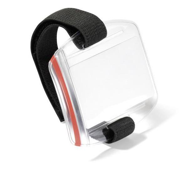 Durable Arm Band Badge Holder Adjustable Fastening Internal Dimensions 97x61mm Ref 841419 Pack 10