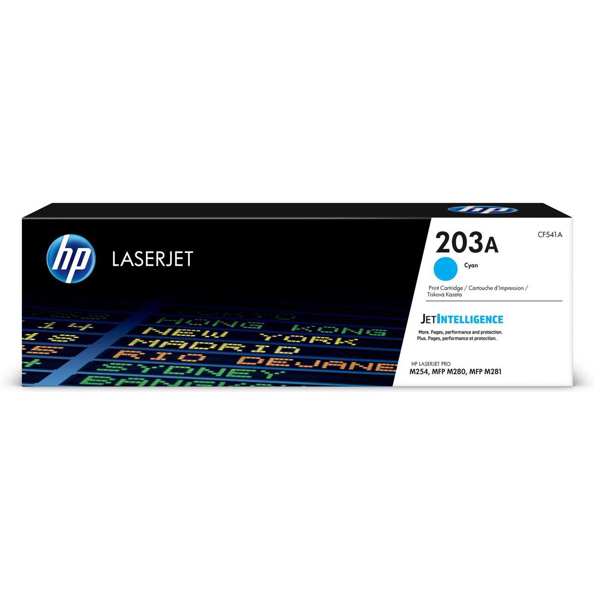 HP 203A LaserJet Toner Cartridge Page Life 1300pp Cyan Ref CF541A