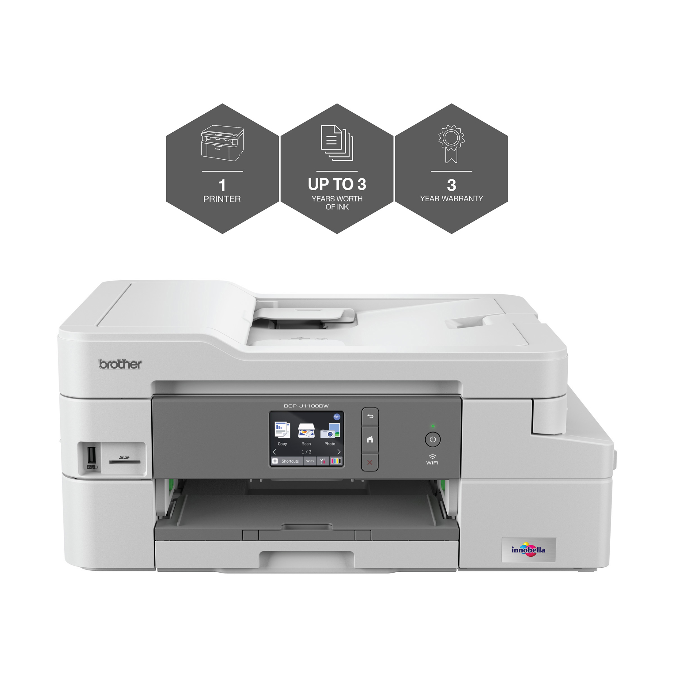 Multifunctional Machines Brother DCPJ1100DW All-in-Box Inkjet Printer Ref DCPJ1100DWZU1