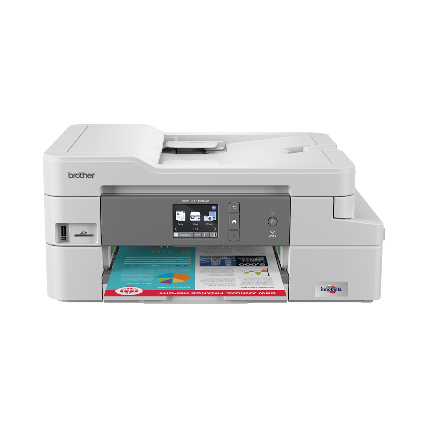 Brother DCPJ1100DW All-in-Box Inkjet Printer Ref DCPJ1100DWZU1