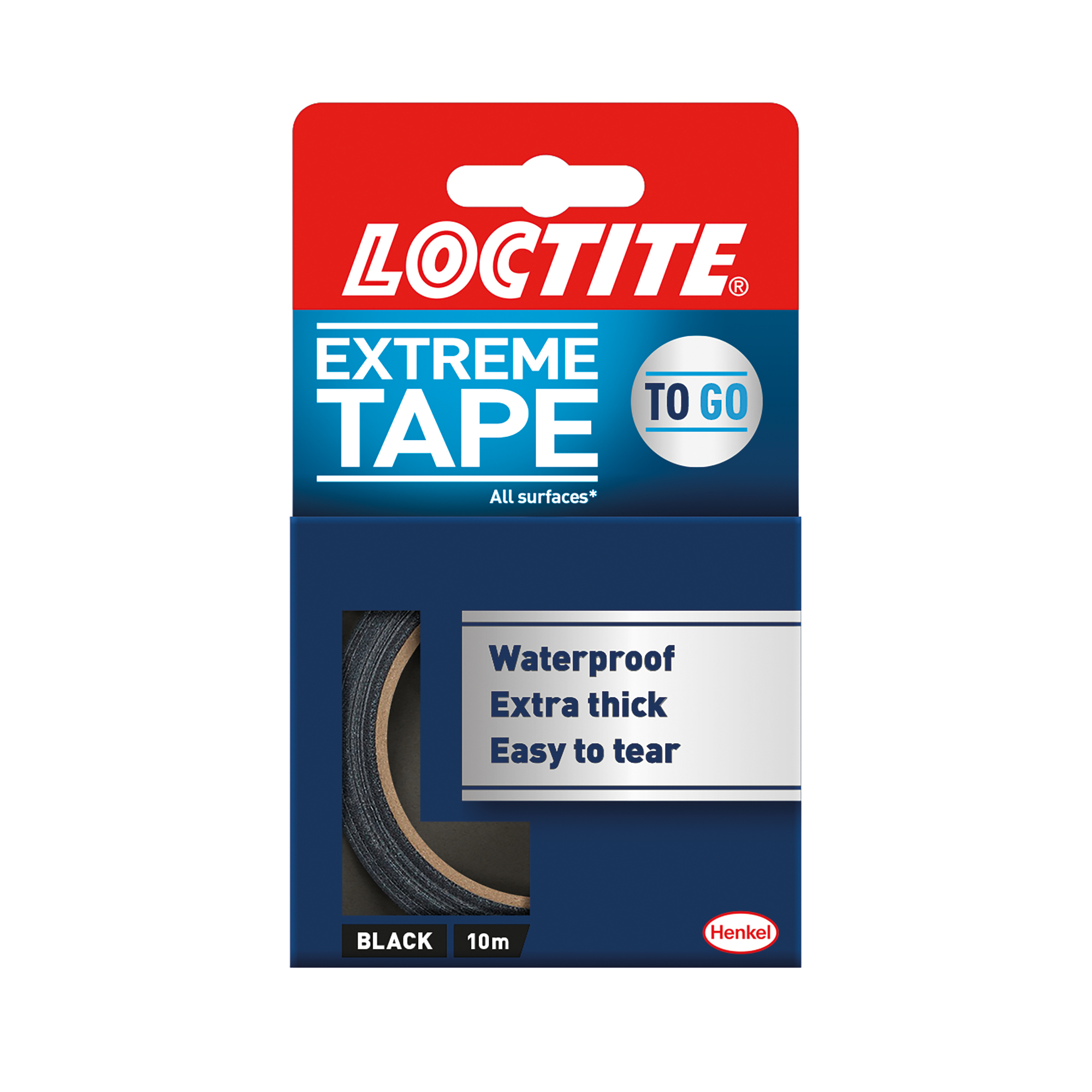 Duct tape Loctite Extreme Tape 10M Black Ref 2505718