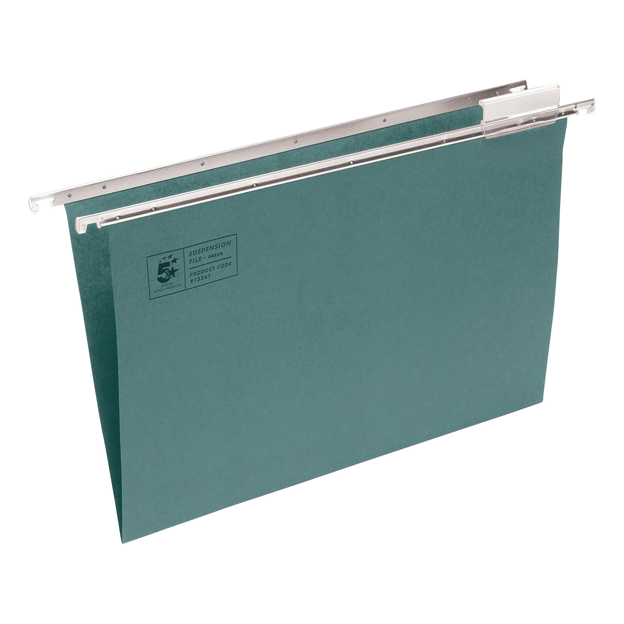 Suspension File 5 Star Office Suspension File with Tabs and Inserts Manilla 15mm V-base 180gsm A4 Green Pack 50