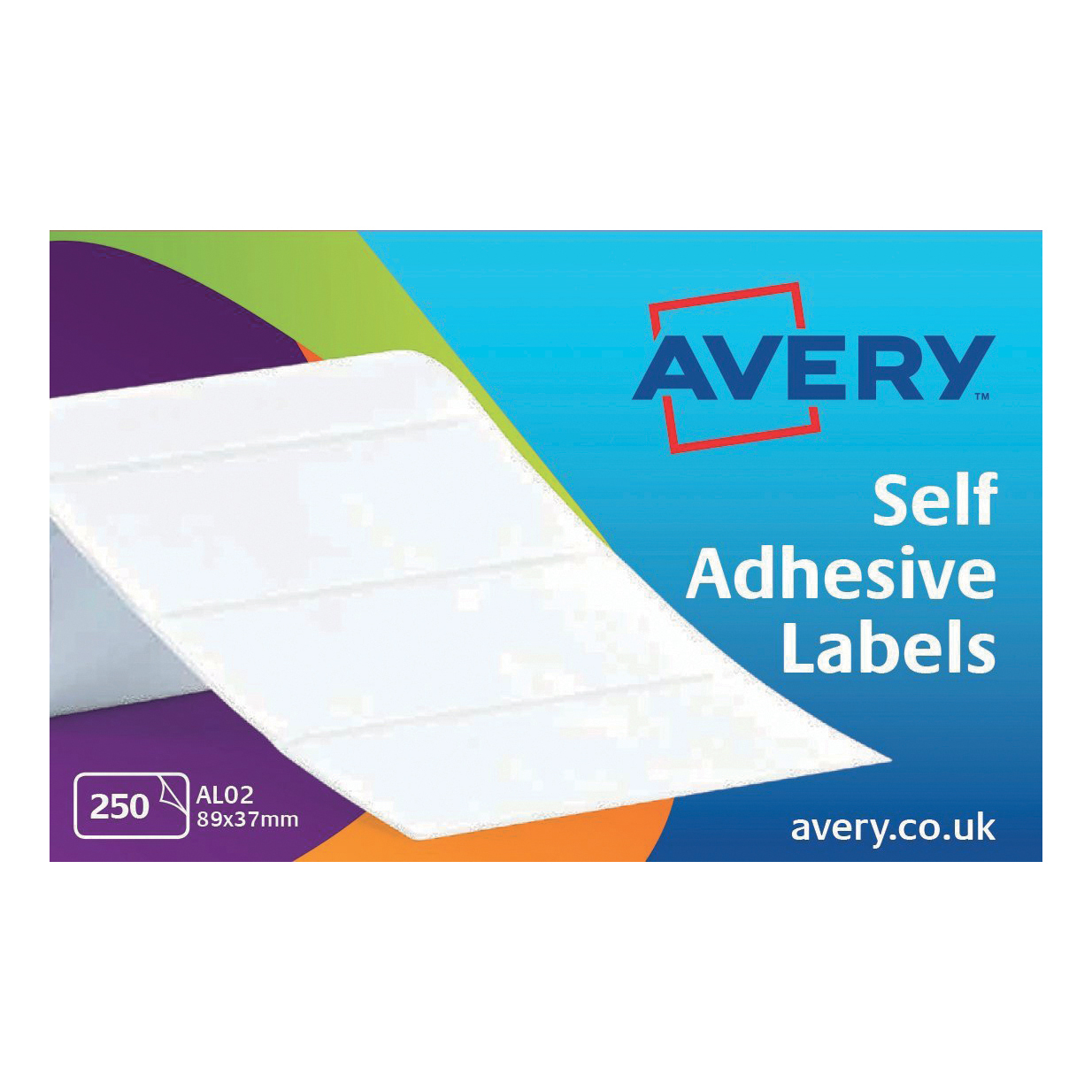 Continuous Labels Avery Address Labels Typewriter Roll 89x37mm White Ref AL02 250 Labels