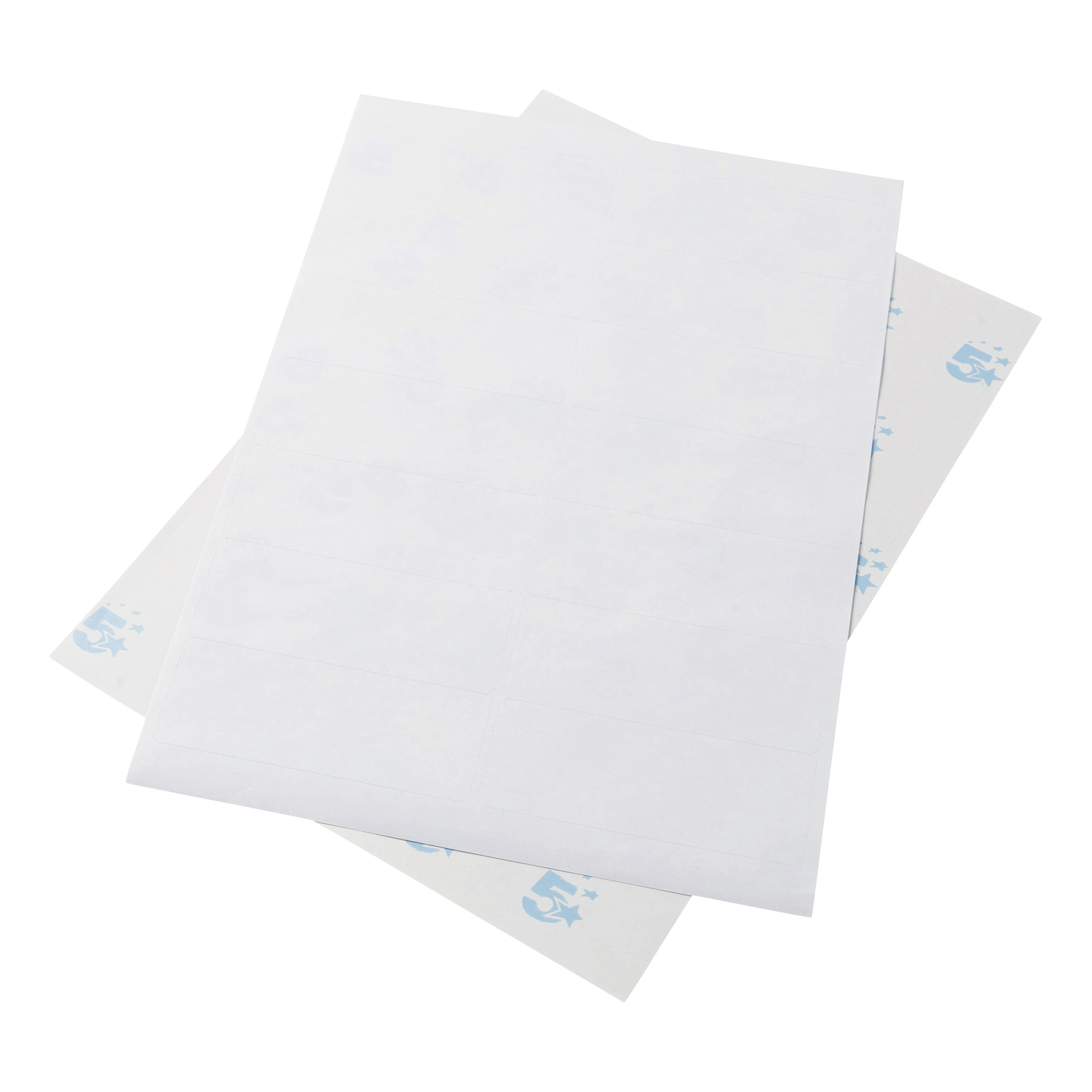 5 Star Office Multipurpose Labels Laser Copier Inkjet 14 per Sheet 99x38mm White 7000 Labels
