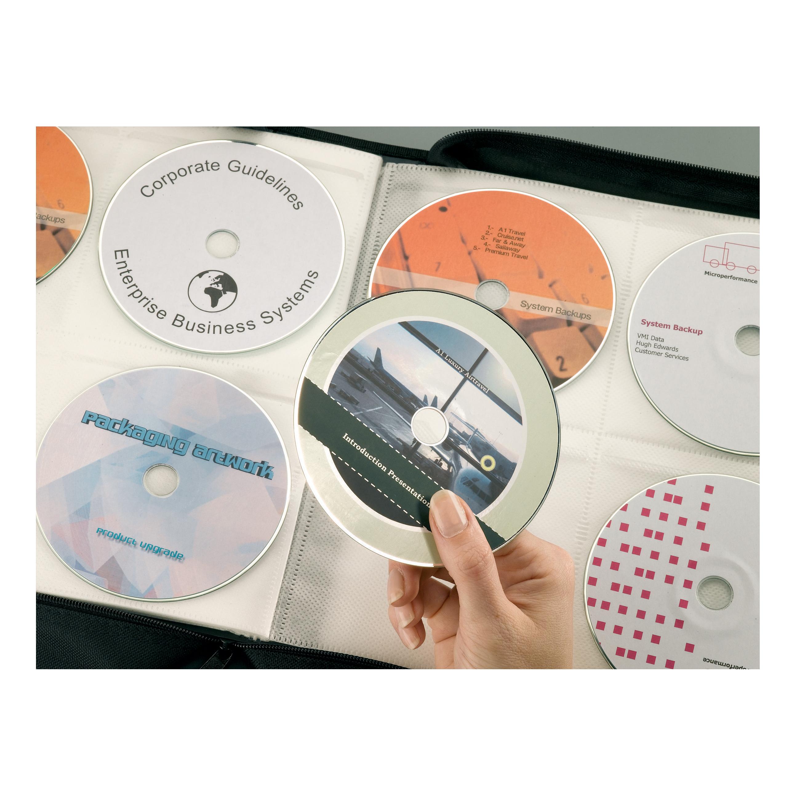 Avery CD/DVD Labels Inkjet 2 per Sheet Dia.117mm Easy Application White Ref J8676-25 50 Labels