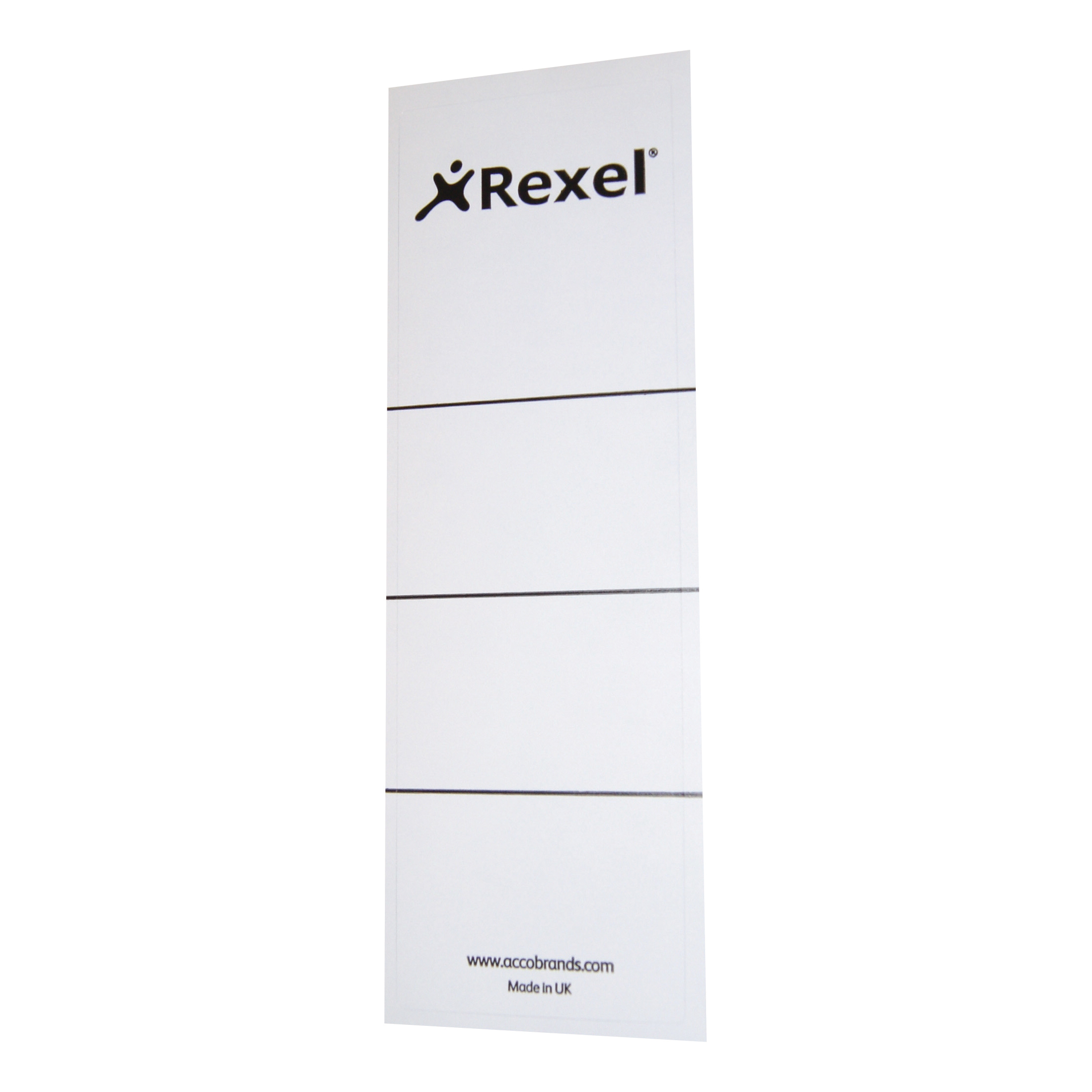 Rexel Replacement Spine Labels 191x60mm White Ref 29300EAST Pack 100