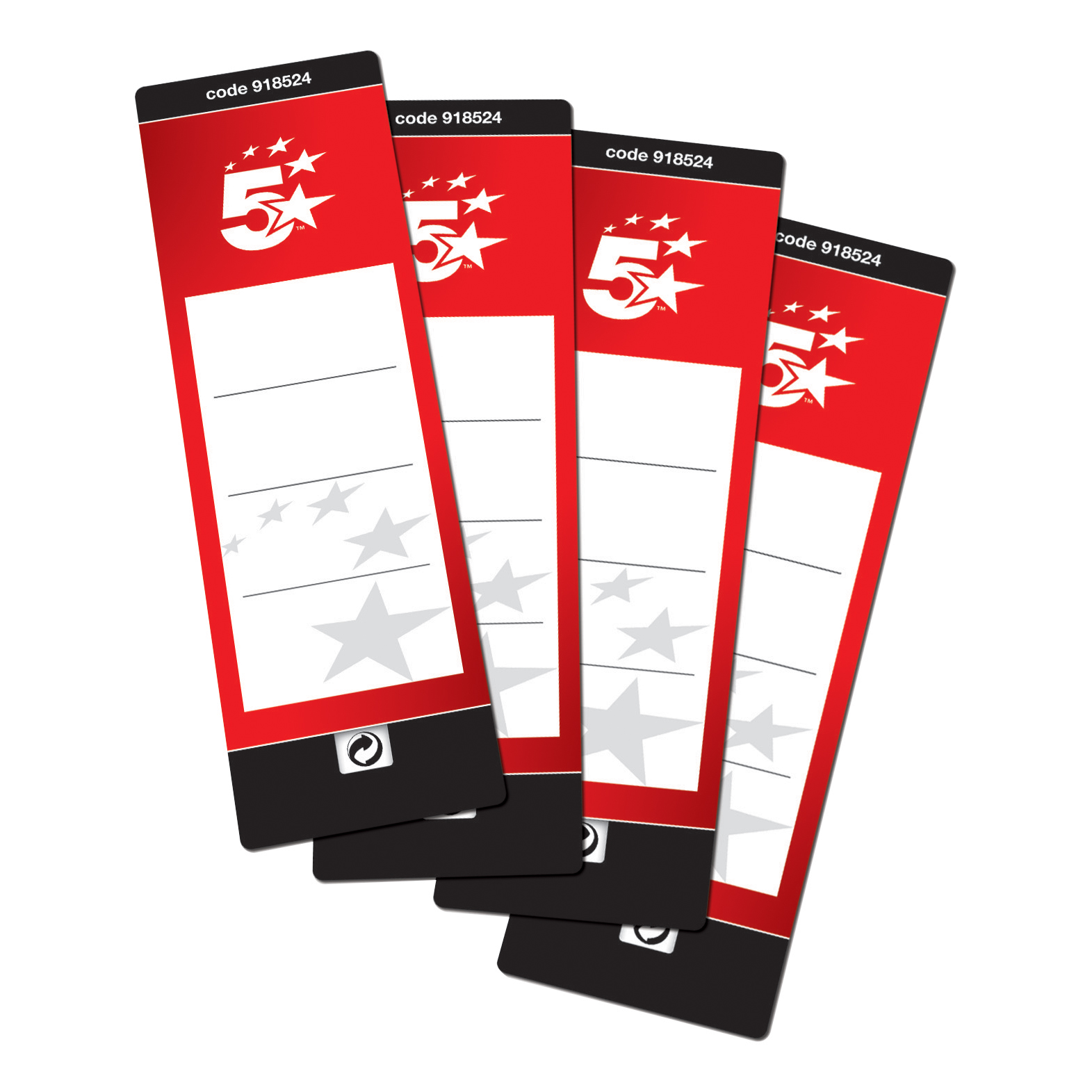 5 Star Office Spine Labels for Lever Arch File 1 per Sheet 190x60mm Self Adhesive 10 Labels