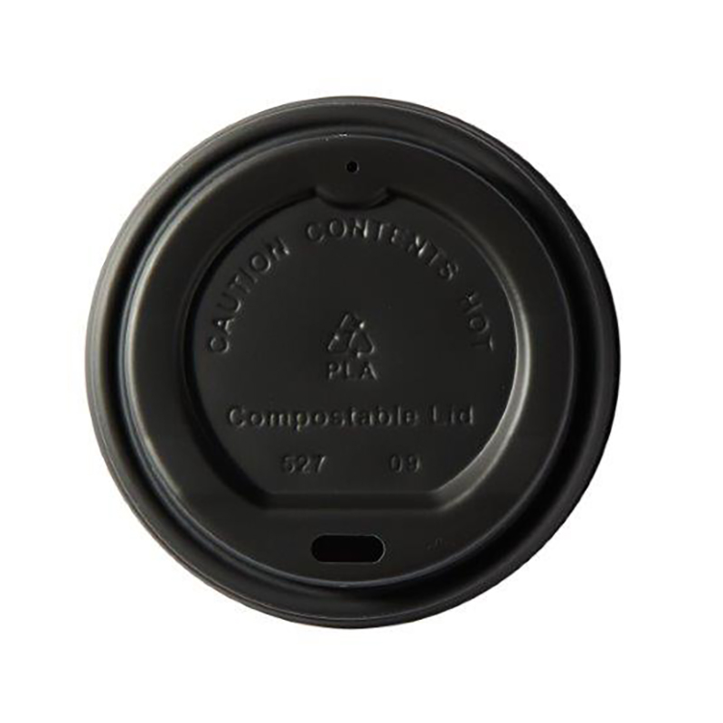 Domestic disposable cups or glasses or lids Ingeo Kraft Hot Cup 8oz PLA Plastic Lids Ref 44885 [Pack 50]