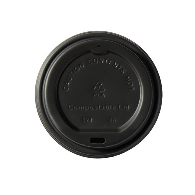 Domestic disposable cups or glasses or lids Ingeo Kraft Hot Cup 12oz PLA Plastic Lids Ref 44886 [Pack 50]