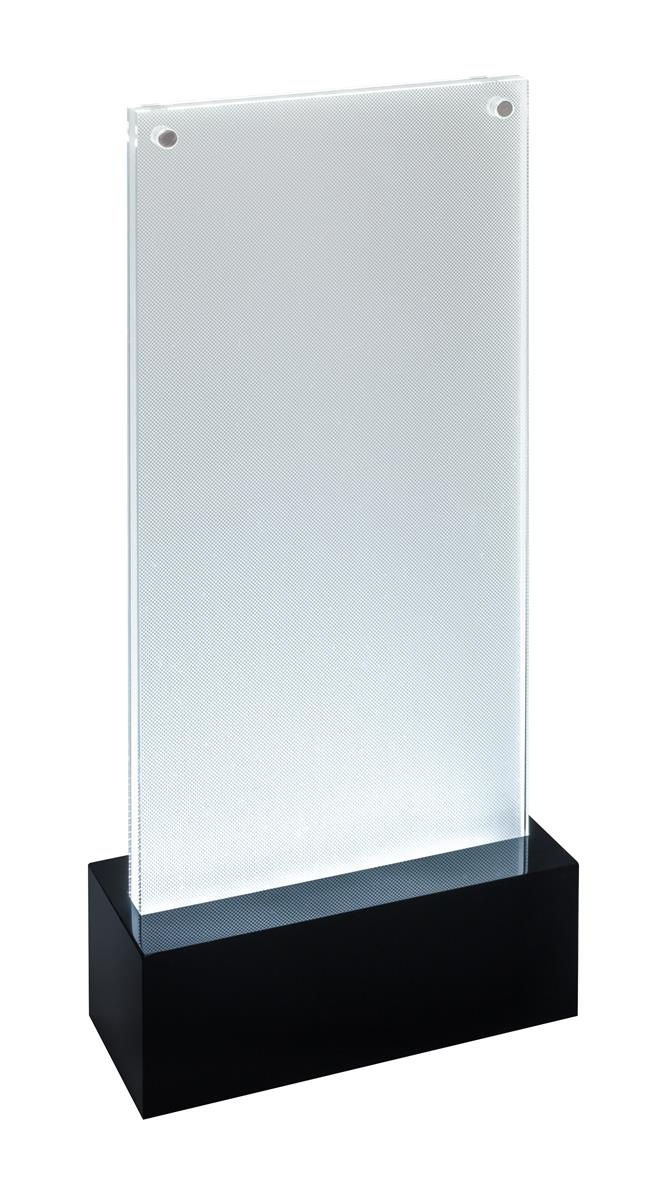 Image for Sigel Table-top Display Frame LED Double-sided Luminous DL Clear/Black Ref TA424